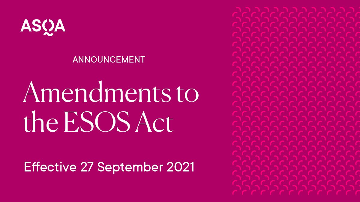 Amendments to the ESOS Act effective 27 September 2021